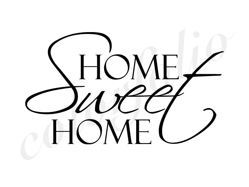 home sweet home wandtattoo home sweet home wandtattoos wallsticker wandtattoo wohnen. Black Bedroom Furniture Sets. Home Design Ideas