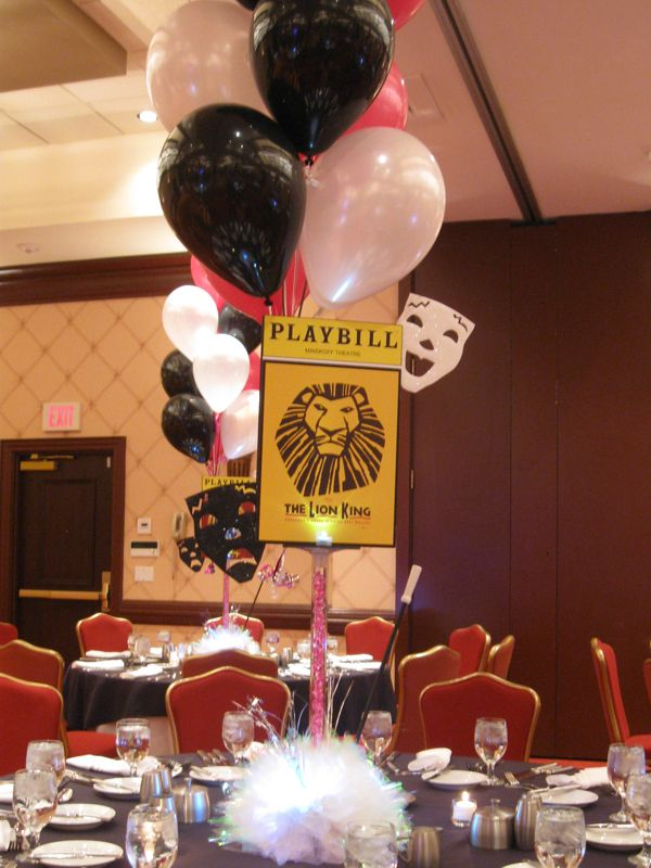 Lion king playbill centerpiece broadway themed bat
