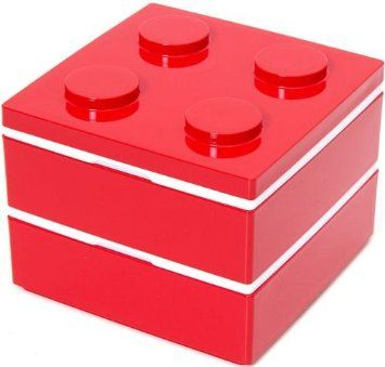 funny red building block bento box from japan lunch boxes home kitchen meal. Black Bedroom Furniture Sets. Home Design Ideas