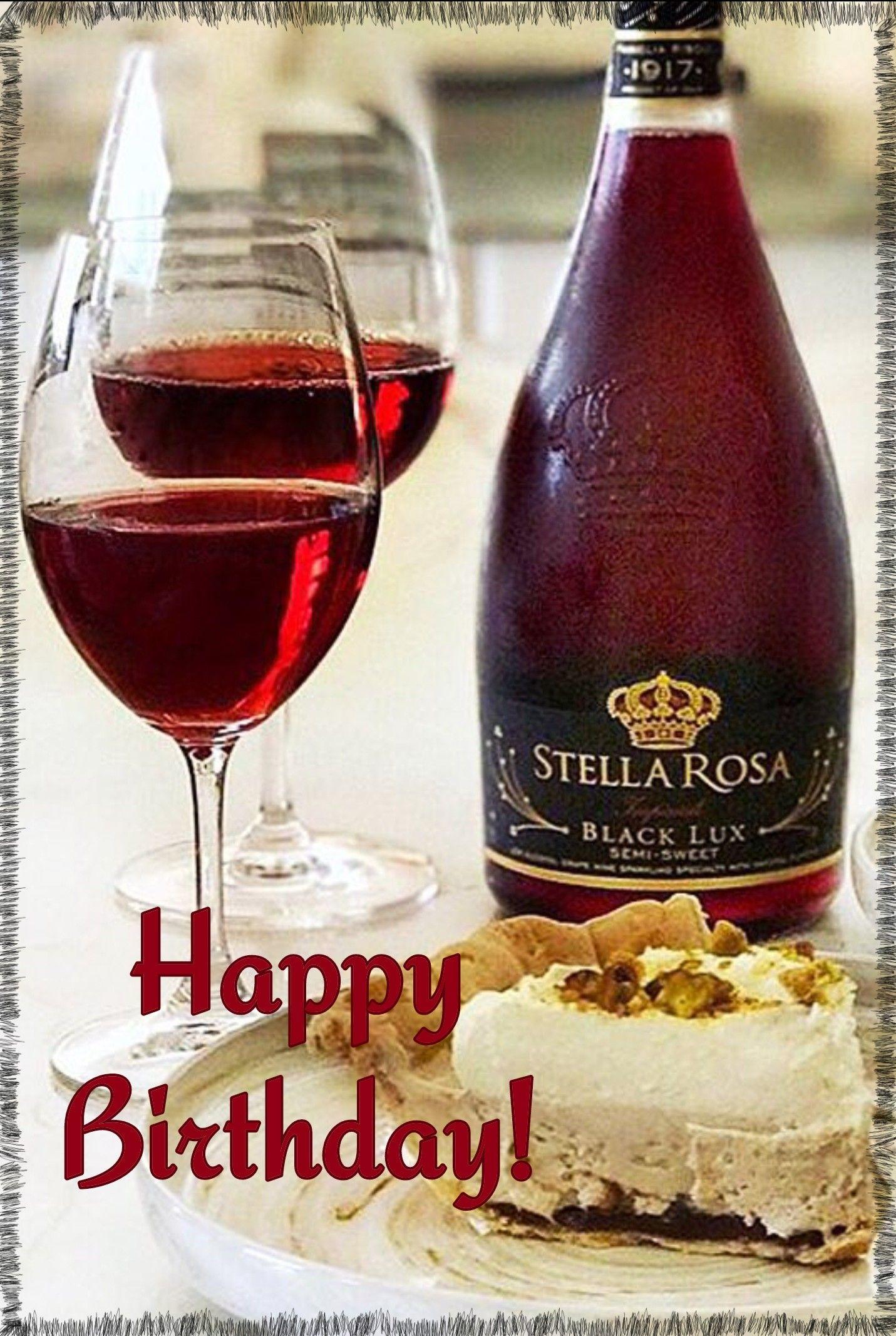 Happy Birthday Wine With Images Happy Birthday Wine Happy