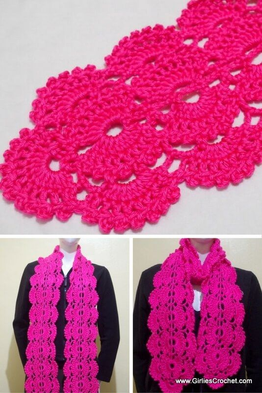Free crochet pattern: Gina crochet scarf (with photo tutorial ...