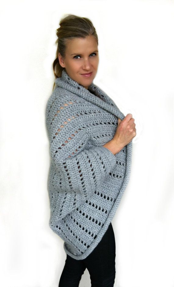 Oversized Chunky Ladies Shrug Crochet Pattern No.920 Digital ...