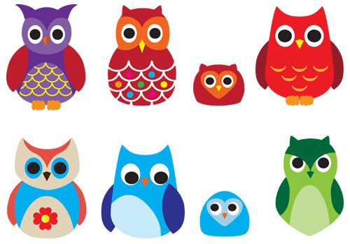 Cute Owl Vectors Colourful Drawing Vector Illustration Cute Owl Drawing Owl Drawing Simple Owl Vector