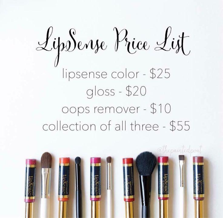 LipSense Price List. SeneGence Distributor ID 351172