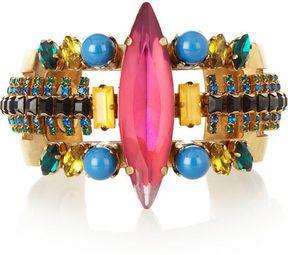 ShopStyle.com: Erickson Beamon Aquarela Do Brasil gold-plated Swarovski crystal cuff $510.00