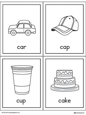 Letter C Words And Pictures Printable Cards Car Cap Cup Cake Printable Cards Alphabet Phonics Printable Alphabet Letters