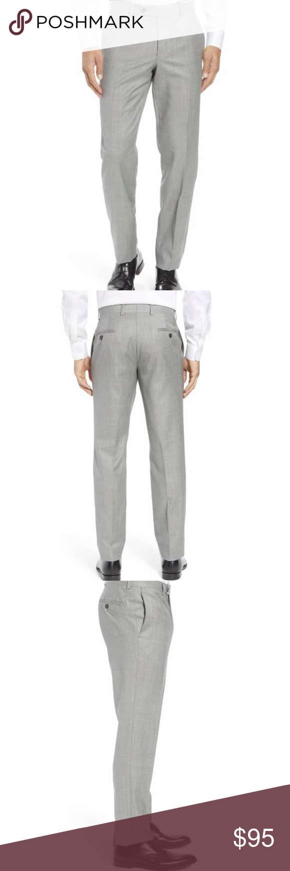 61e0e4447 TED BAKER Jefferson Flat Front Wool Trousers NWT TED BAKER LONDON Mens 36R Jefferson  Flat Front