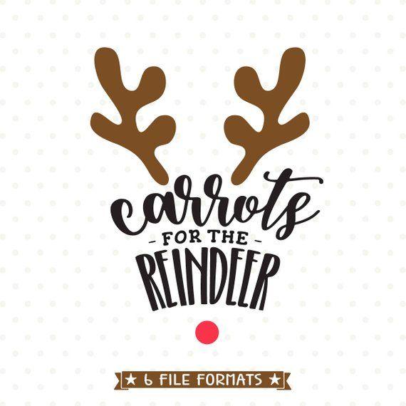 b4649794 Carrots for Reindeer SVG file, Cookie Plate vinyl cut file, Reindeer svg  design, Christmas svg, Chri