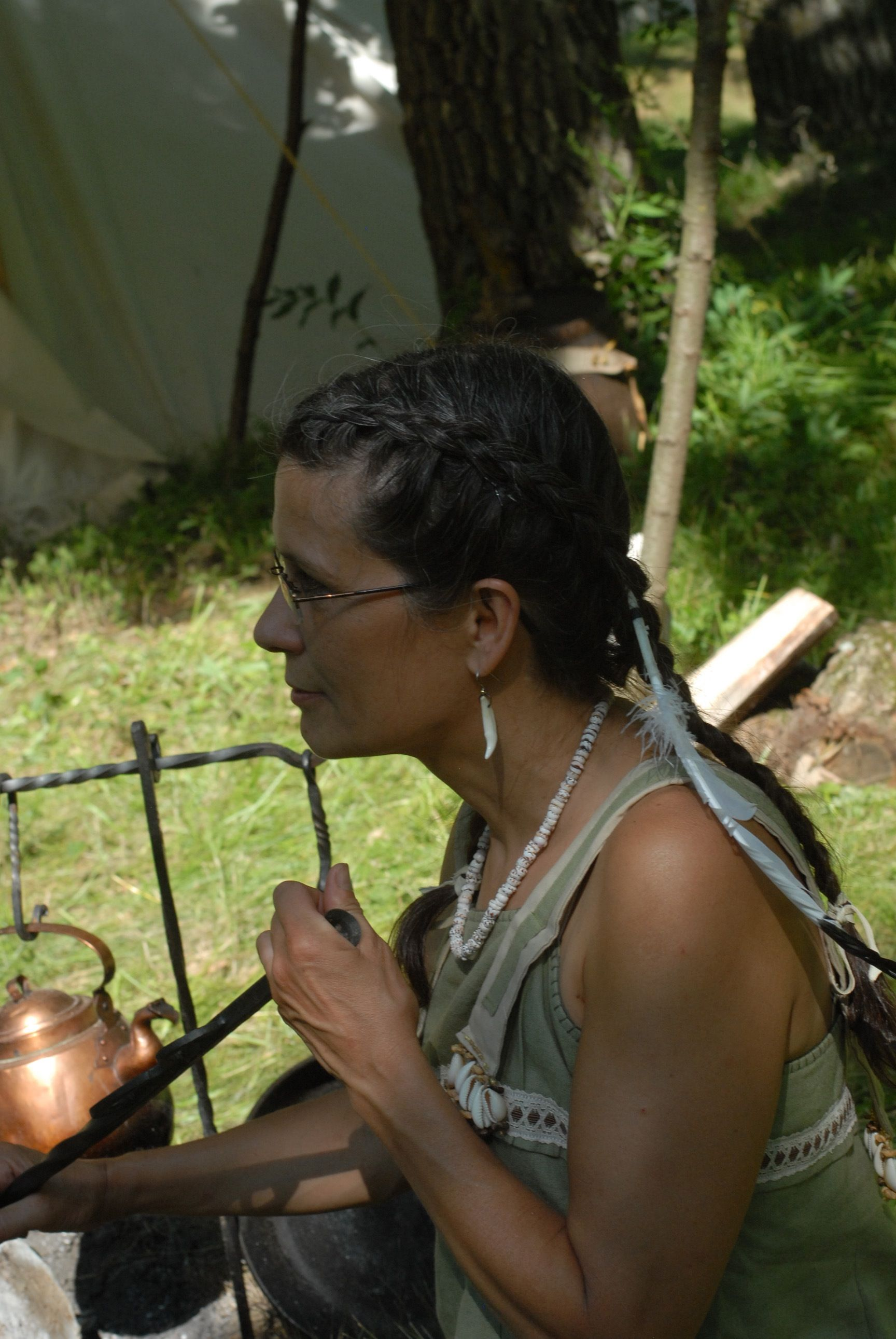 Mom at the four moons rising rendezvous 2014