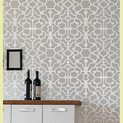 very large wall Stencils | Zinnia Stencil