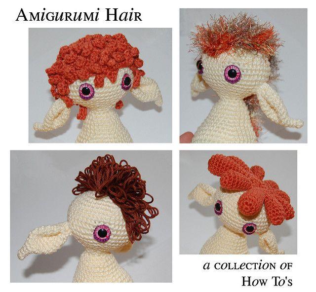 Hacer distintos tipos de cabello amigurumi