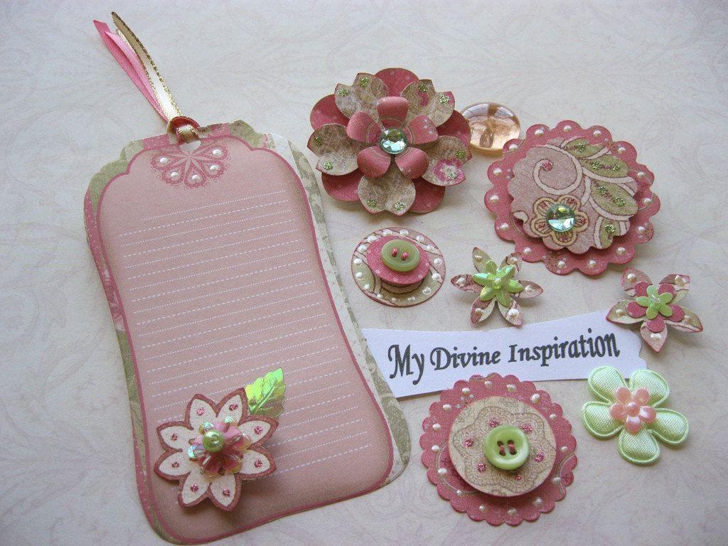 Vintage Scrapbook Paper Embellishments And Paper Flowers Enhancing