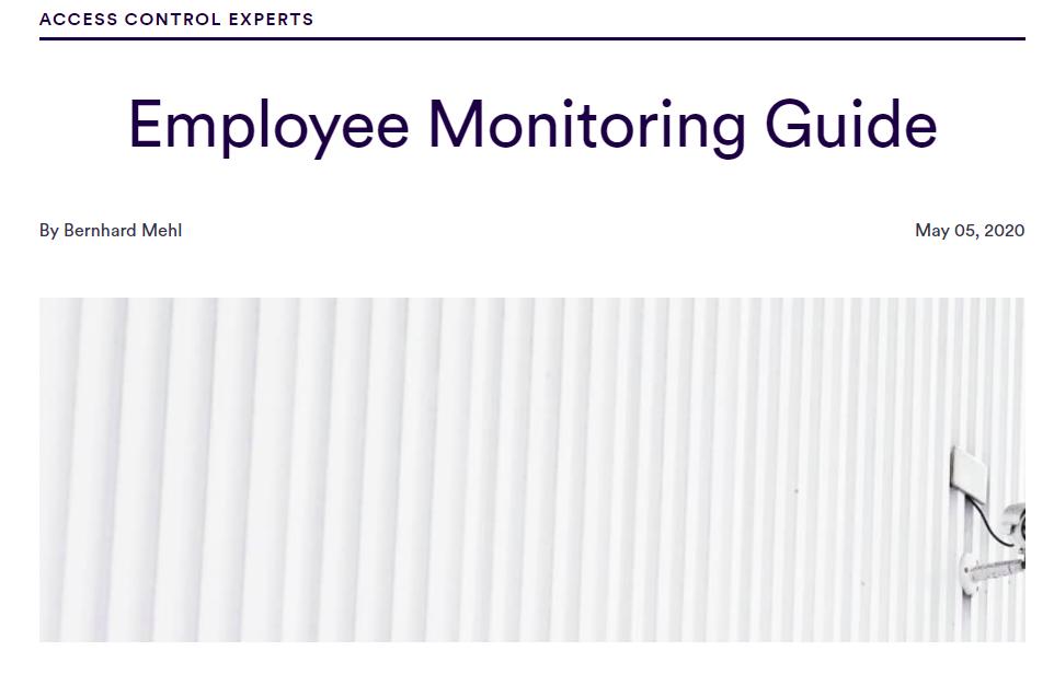 Blog Employee Monitoring Guide by Bernhard Mehl through