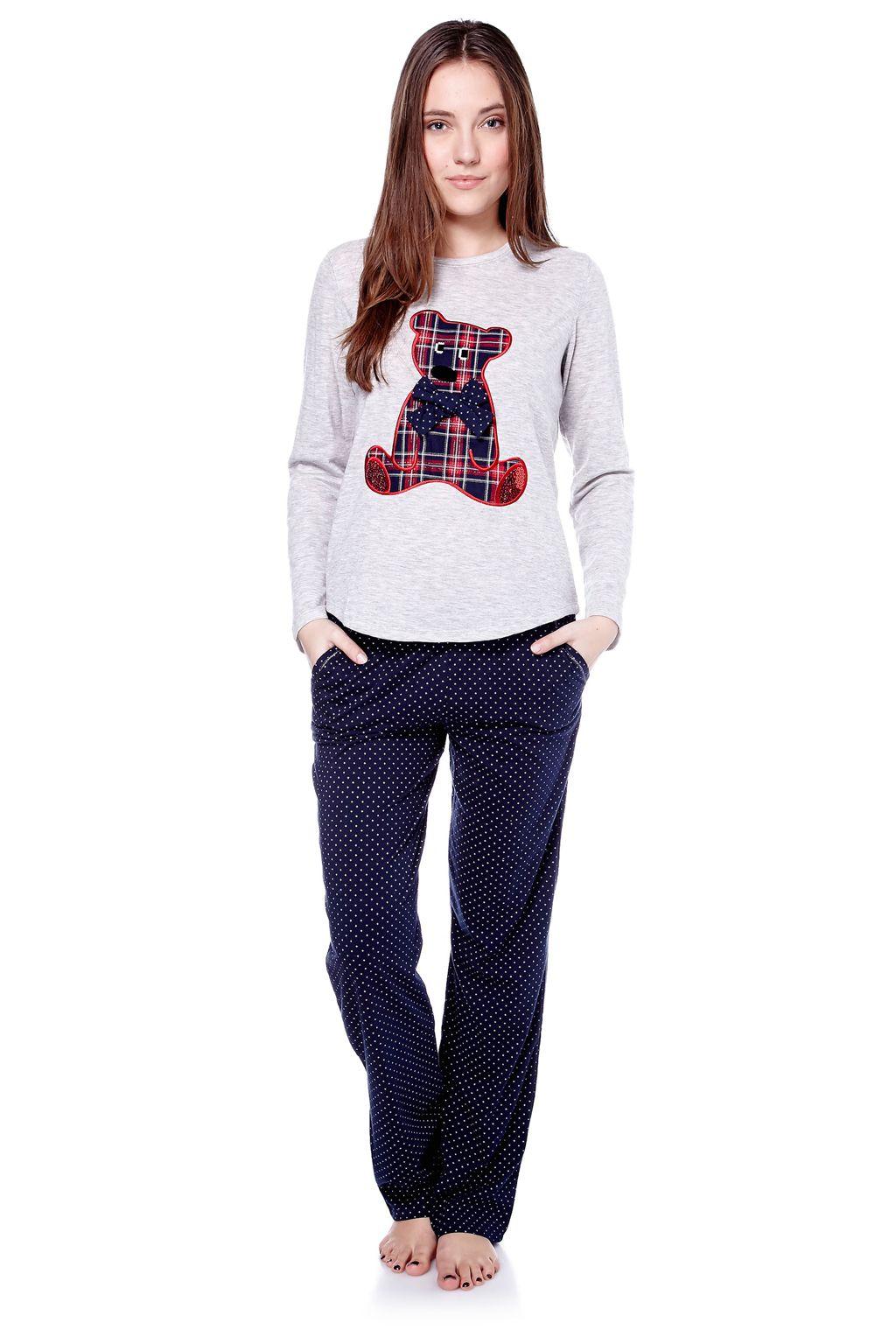 Vente Etam   Homewear   Pyjamas   Ensemble 2 Pièces Teddy Blue Marine   Gris 79b4e3825d9e