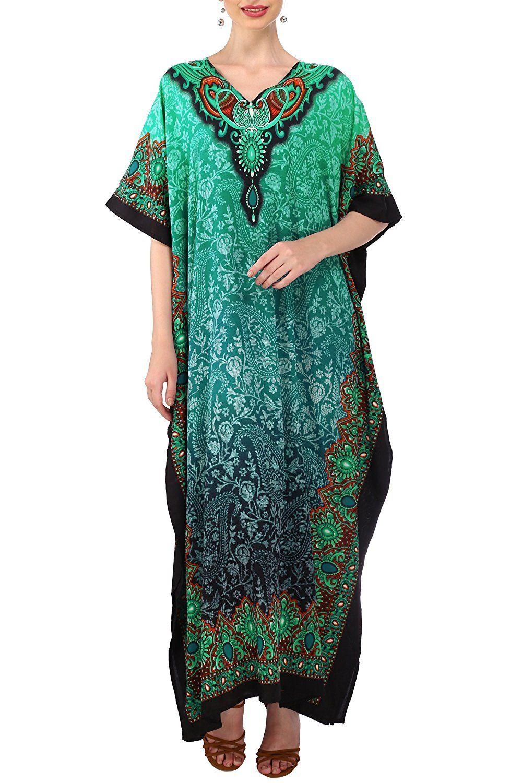 601ec152b5c Kaftan Tunic Kimono Dress Ladies Summer Women Evening Maxi Party Plus Size  6-24
