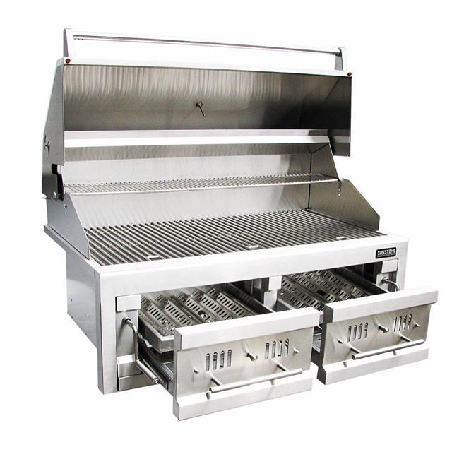 Upgrade Your Charcoal Grill Th Sunchdz42 Cook Or Smoke In Two Different Heat Zones Warming Rack I Built In Grill Outdoor Kitchen Design Diy Grill