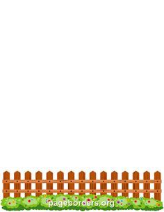 printable picket fence border use the border in microsoft word or