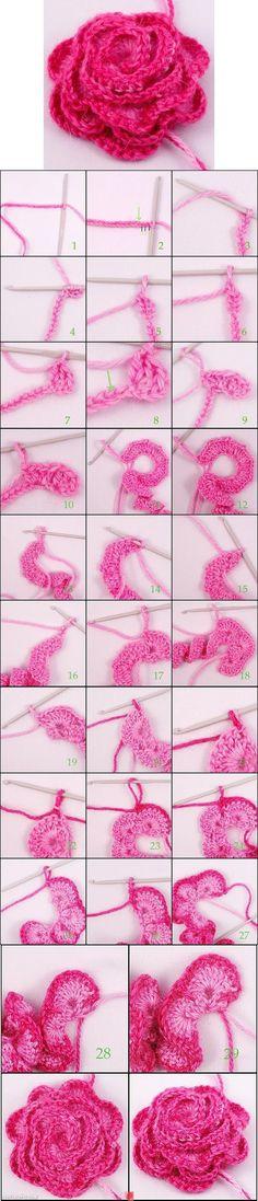 DIY Flower flowers diy crafts home made easy crafts craft idea crafts ideas diy ideas diy crafts diy idea do it yourself diy projects diy craft handmade diy knitting knitting craft knitting