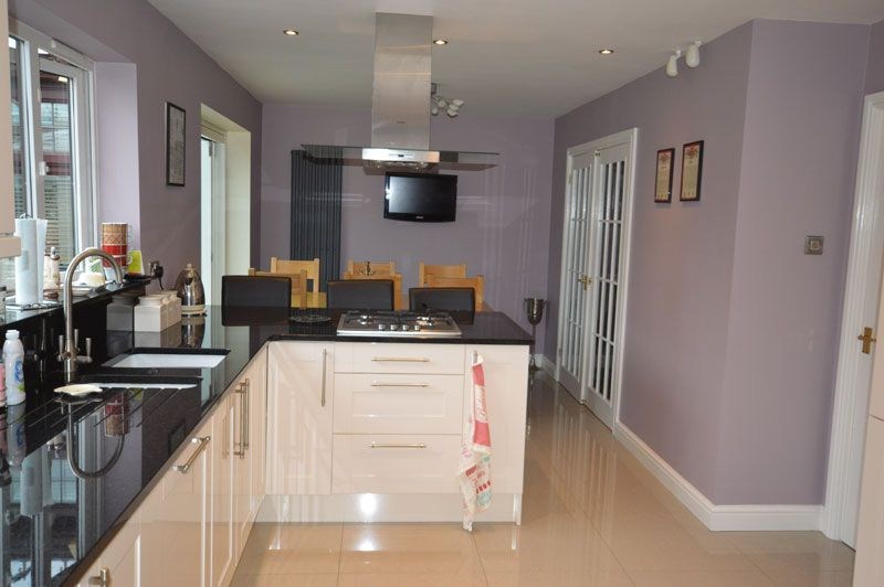 Black Kitchen Walls walls of the kitchen in kingsmead, cheshire. | lilac, cream gloss