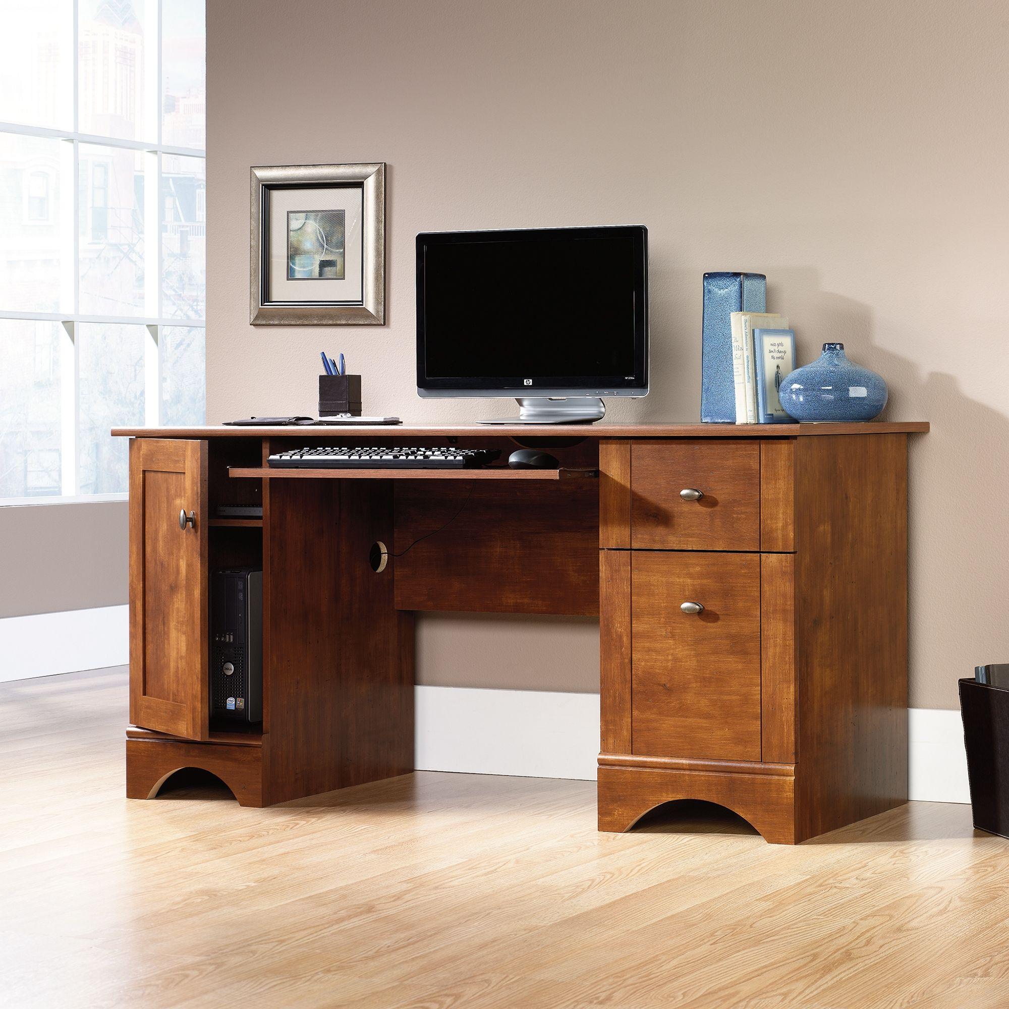 Sauder puter Desk With 2 Storage Drawers