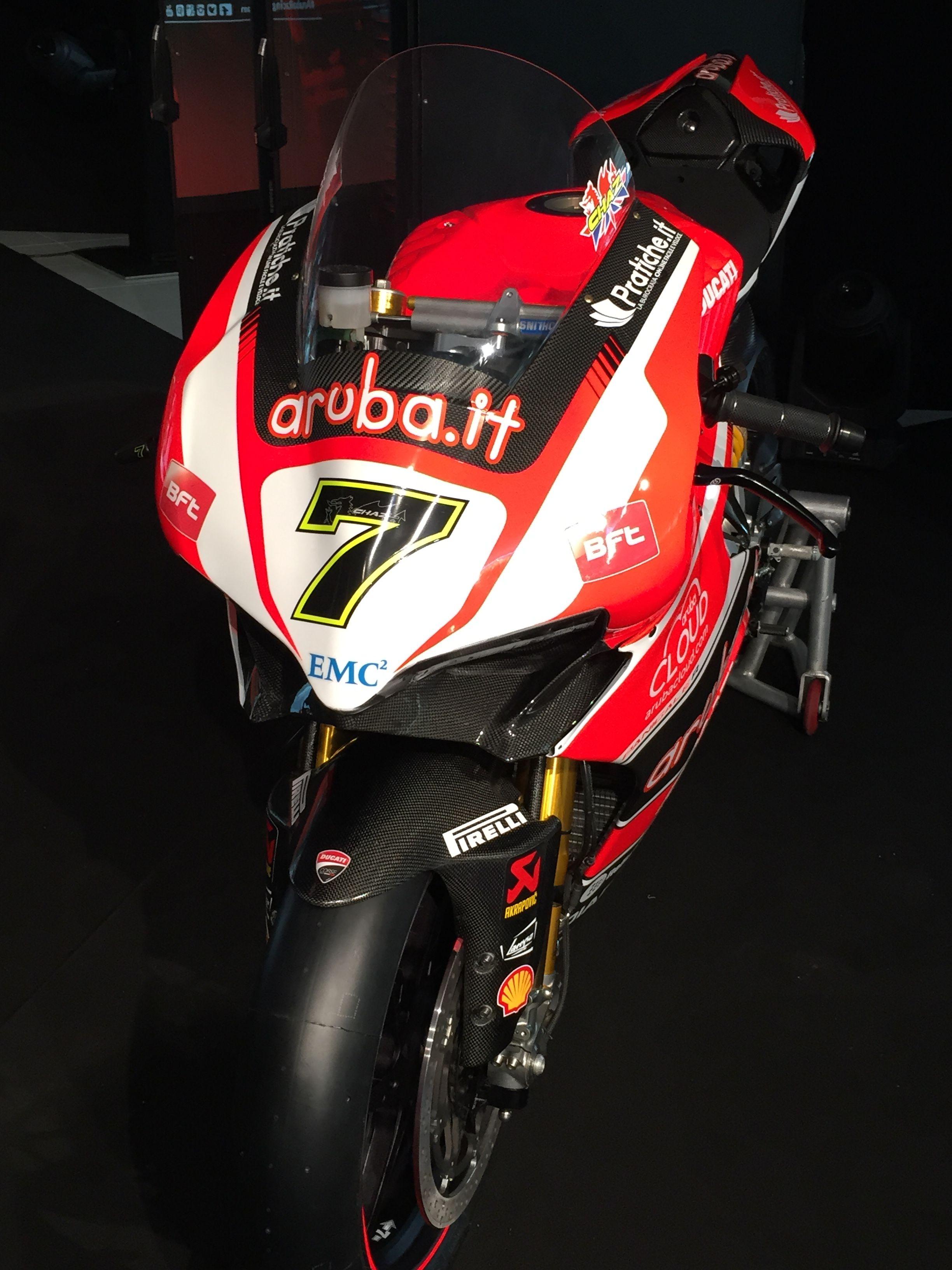 Ducati Panigale R Numero 7 Chaz Davies Scatto Frontale Mit