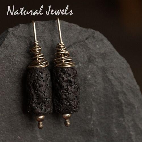Earrings Lava Tubes