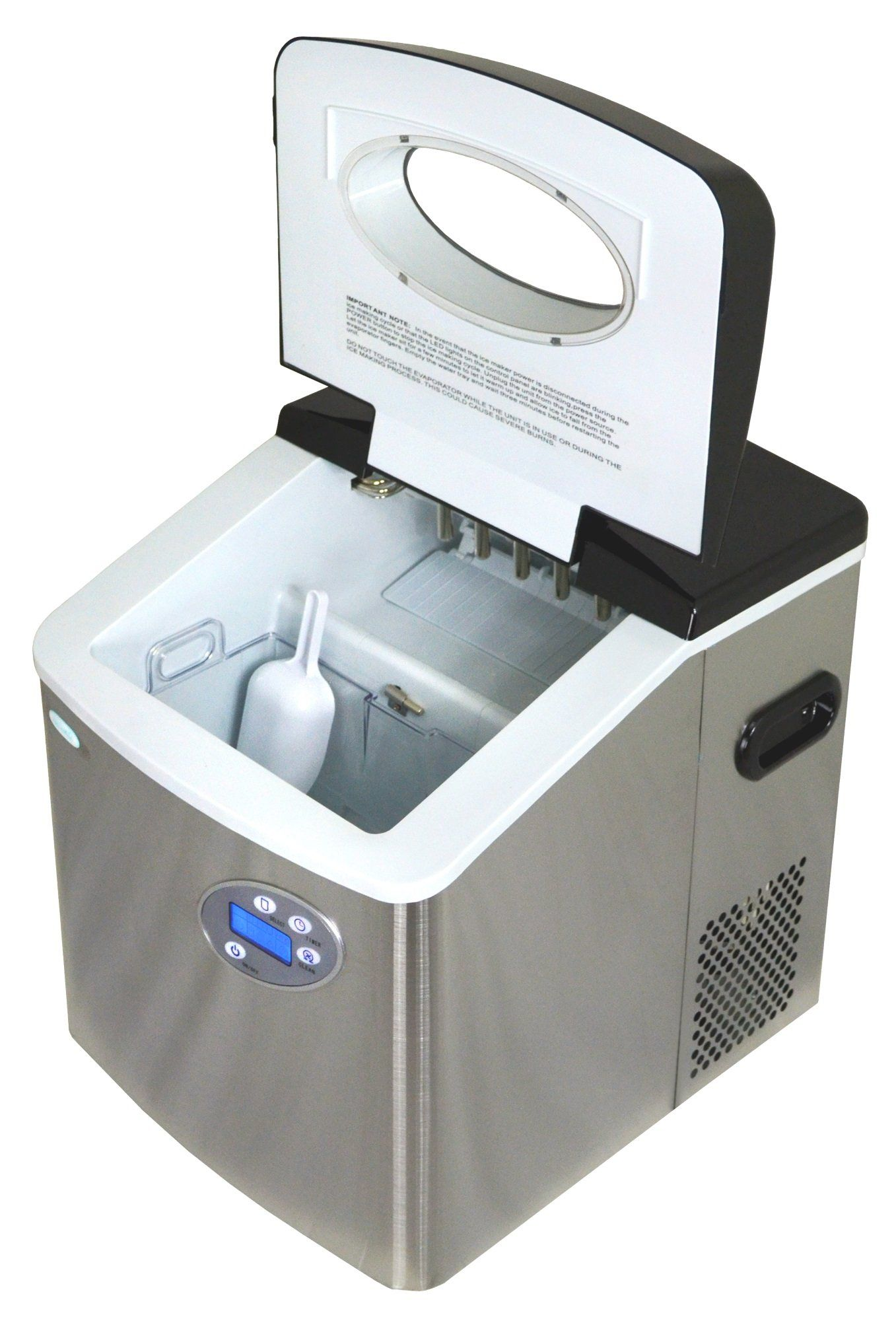 Newair Ai215ss Portable Countertop Ice Maker 50 Lbs Stainless
