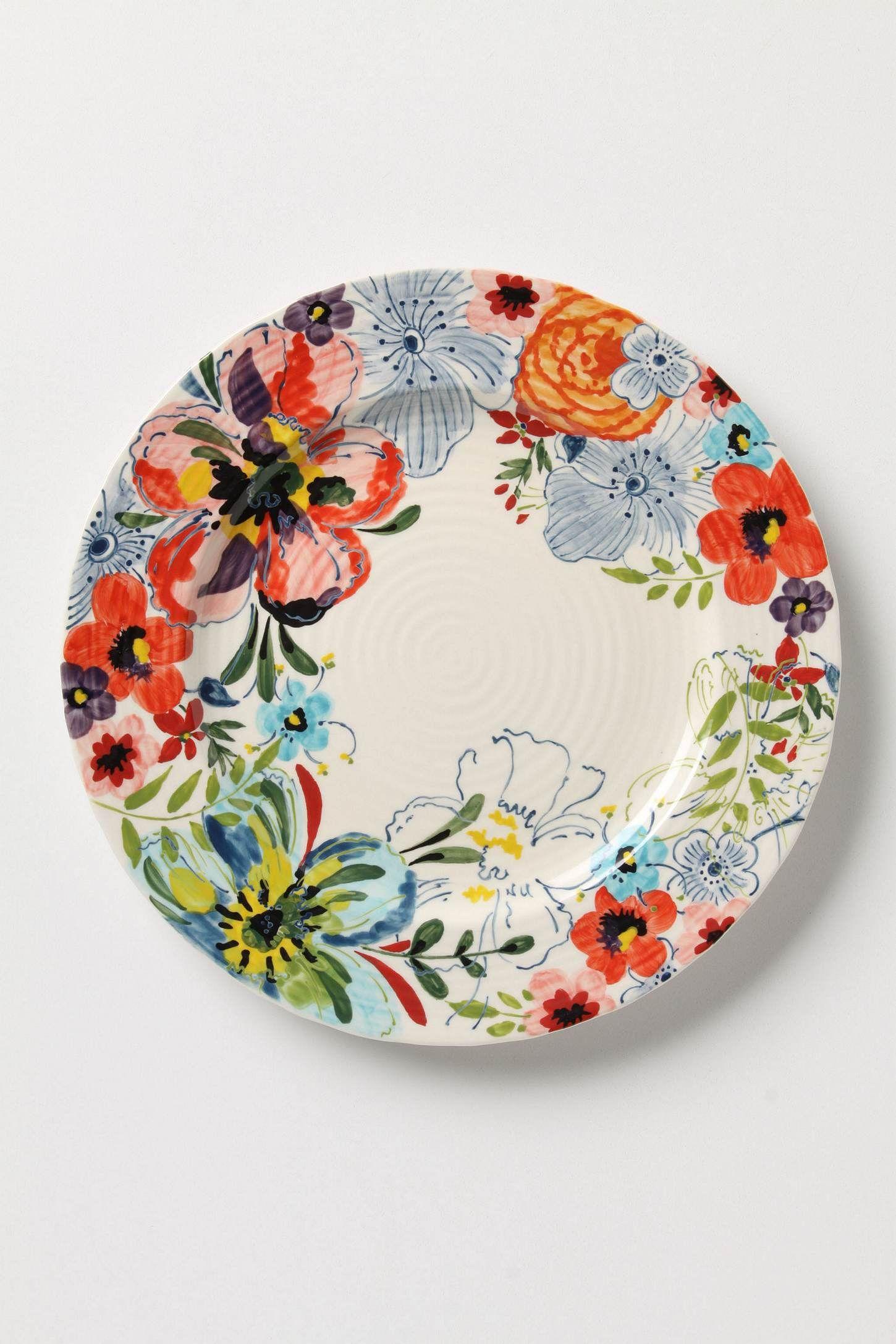 Sissinghurst Castle Dinner Plate Hand painted plates