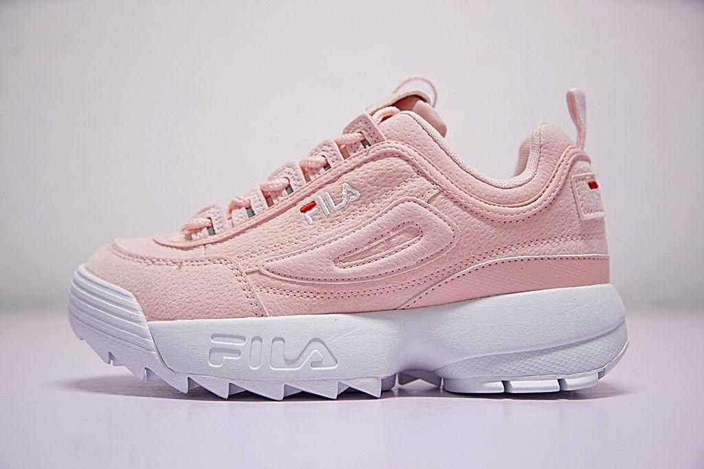 Fila Disruptor Ii 2 Fw0165 044 White Shoes Pink Women&Men