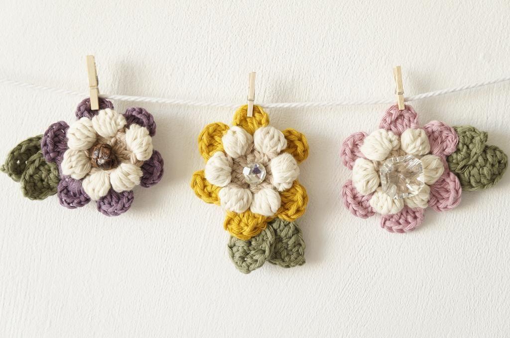 Mothers Day Flower Brooch Pattern On Craftsy Hkeln Crochet