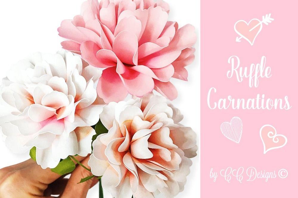 Carnation Paper Flower Templates Paper Flower Template Paper Flowers Giant Paper Roses