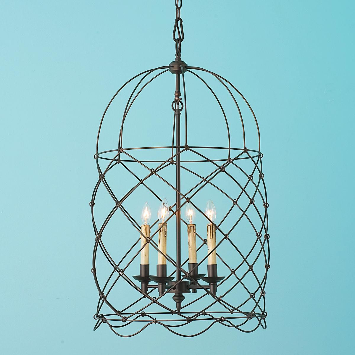 Circus Wire Cage Lantern | My Cottage | Pinterest | Lights, Foyers ...