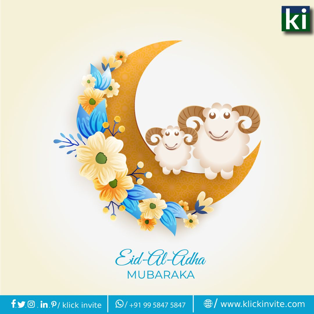 May The Spirit Of Togetherness Compassion Generosity Brings Happiness For All Eidmubarak Bakrid Eidaladha Festival Wednes Seni Islamis Kartu Ilustrasi
