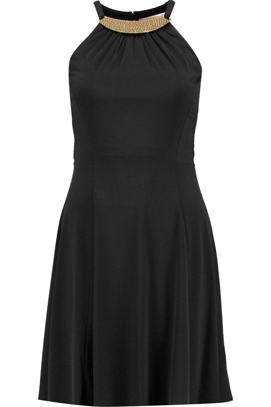 MICHAEL MICHAEL KORS Embellished Stretch-Jersey Dress. #michaelmichaelkors #cloth #dress