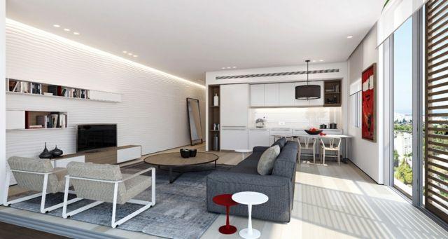 Pice De Vie Moderne Dans Un Petit Appartement De Ville  Sjour