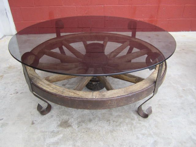 Wagon Wheel Coffee Table Wagon Wheel Decor Antique