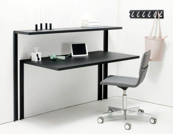 computertisch schwarz holz pc tisch