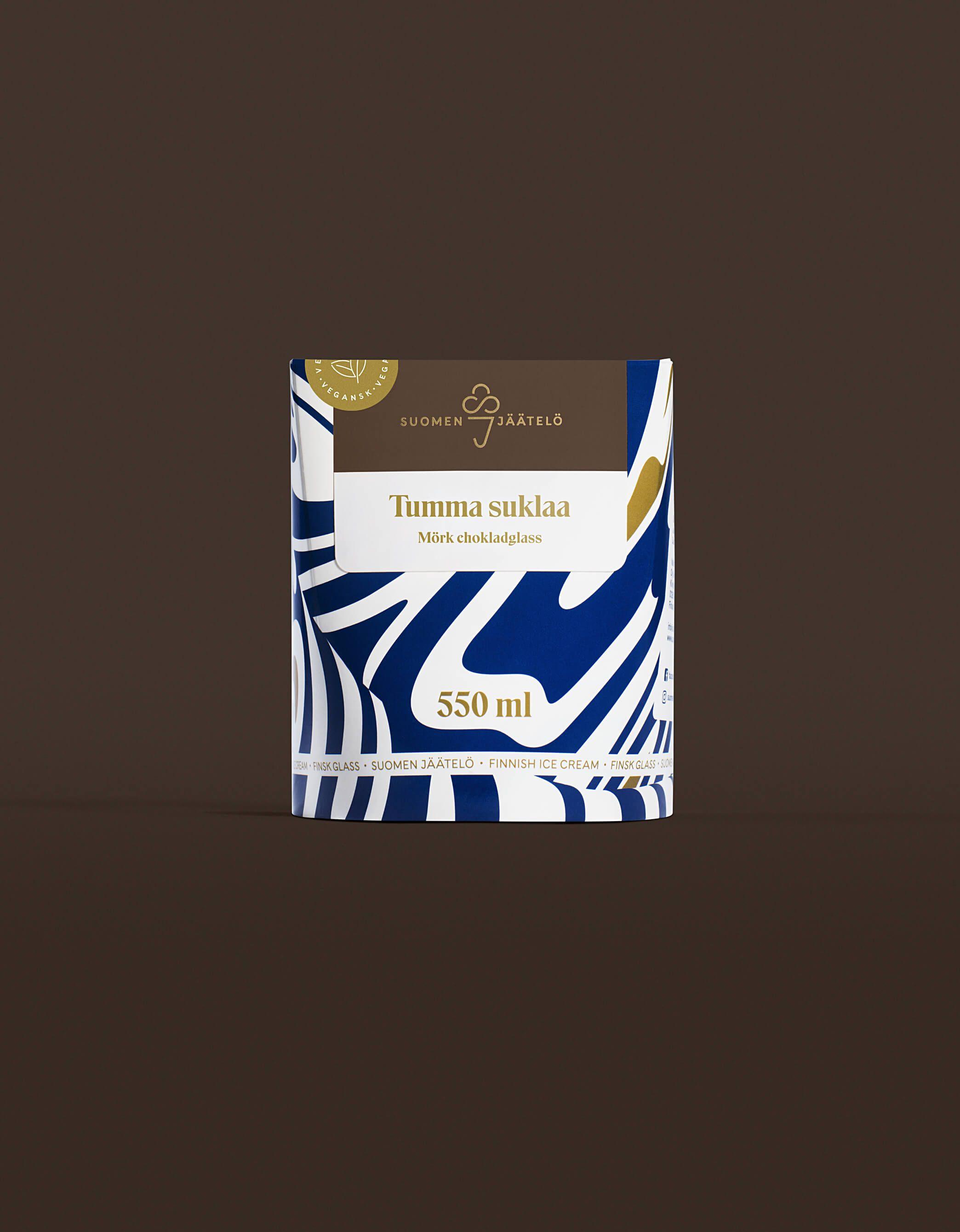 Suomen jäätelö - logo ja verkkosivu