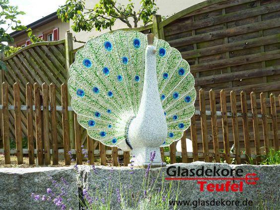 Glaskunst Pfau Glas Im Garten Pinterest Glas Und Garten