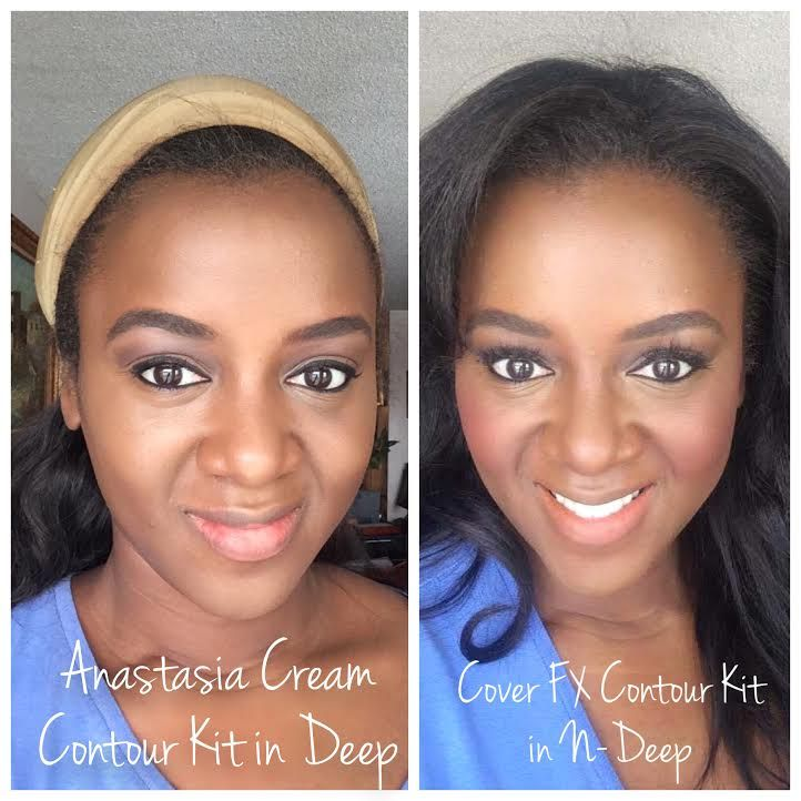 anastasia cream contour kit in deep on dark skin vs cover fx ...