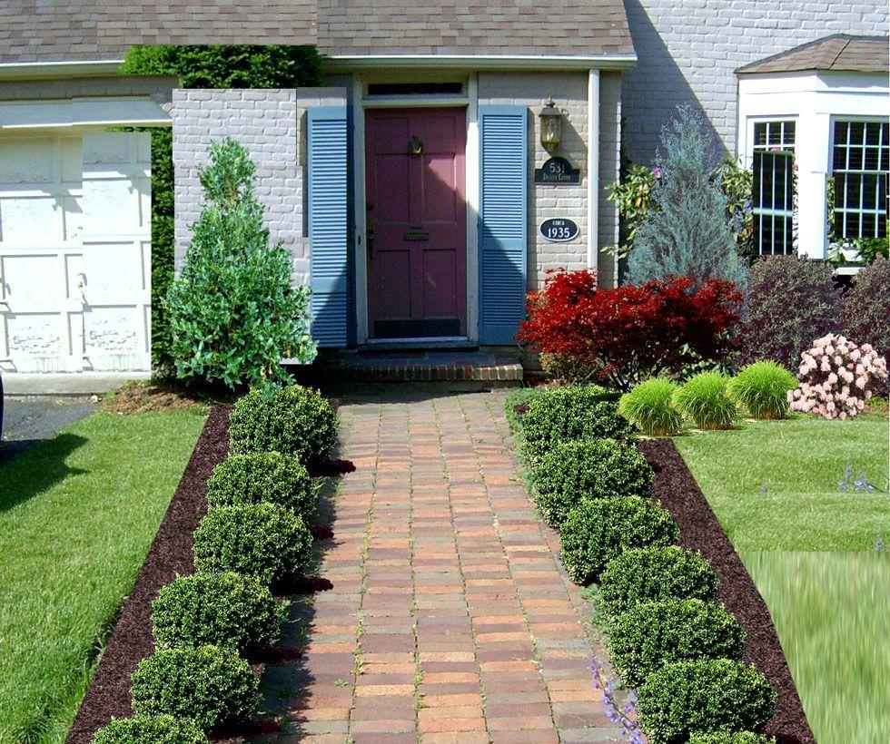 Front Door Garden Design Beautiful Ideas Of Yard Walkway To With Plants 980×820 #walkwaystofrontdoor