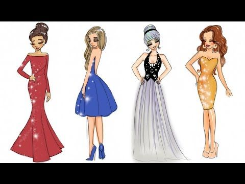 610562112e3 ❤ Drawing Tutorial - How to draw 4 Christmas Outfits ❤ - YouTube ...