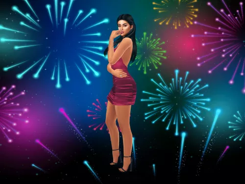 New Year Fireworks CAS Background (With images) | New year ...