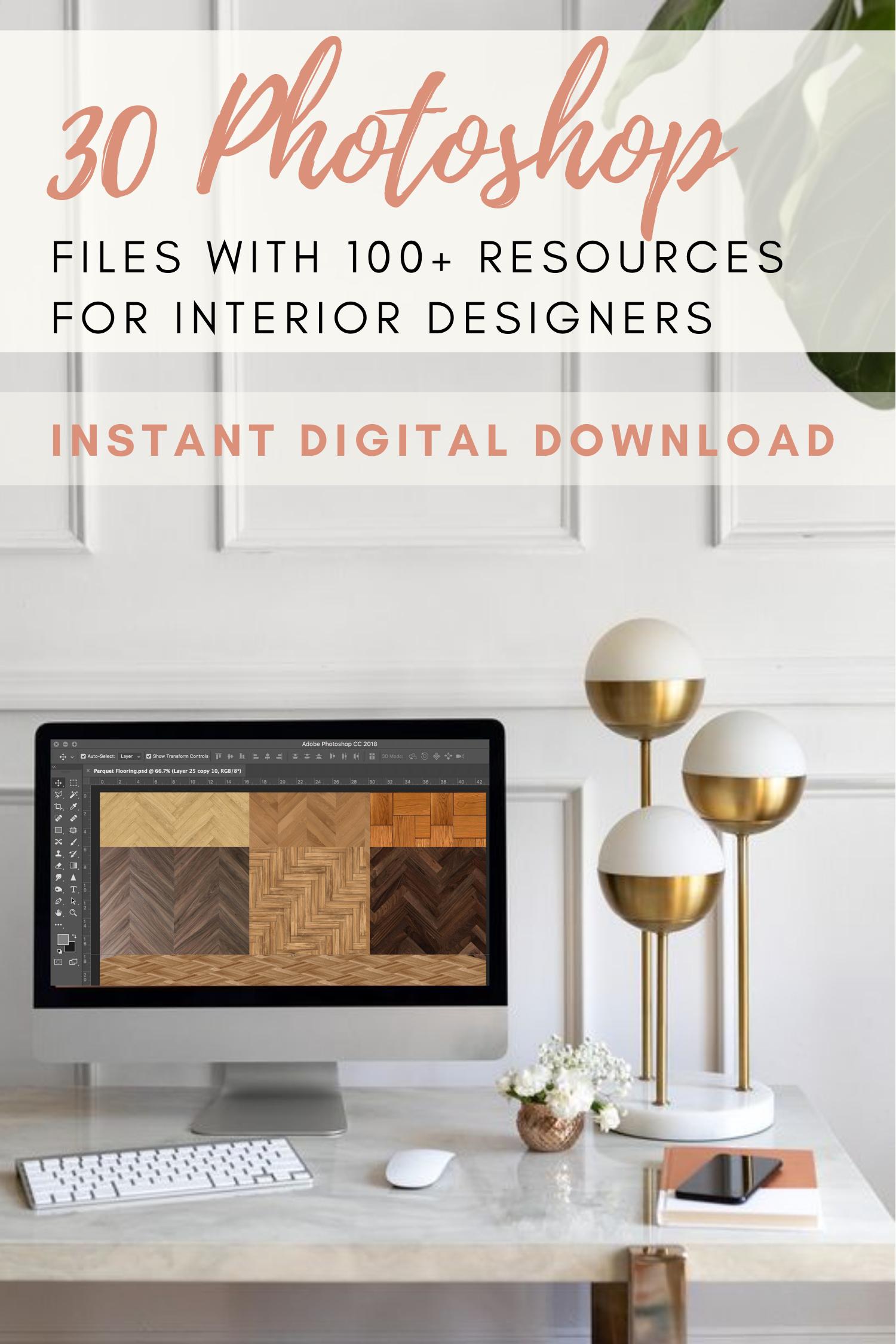 Digital Photoshop Resources For Interior Designers Photoshop Etsy Interior Design Student Interior Design Renderings Interior Design Resources