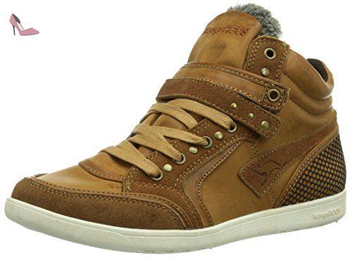 KangaROOS K-Basket 5005, Sneakers femmeMarron (Nutbrown 350), 41 EU