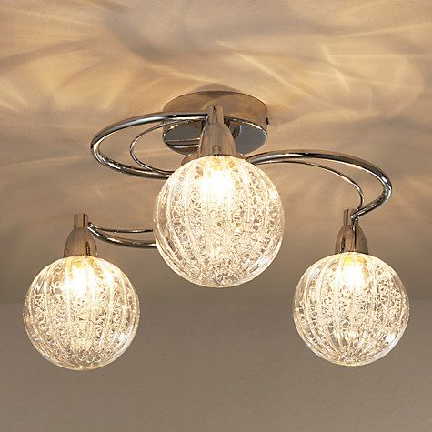Robertson semi flush 3 arm ceiling light chrome ceiling lights buy john lewis robertson ceiling light 3 arm online at johnlewis aloadofball Choice Image