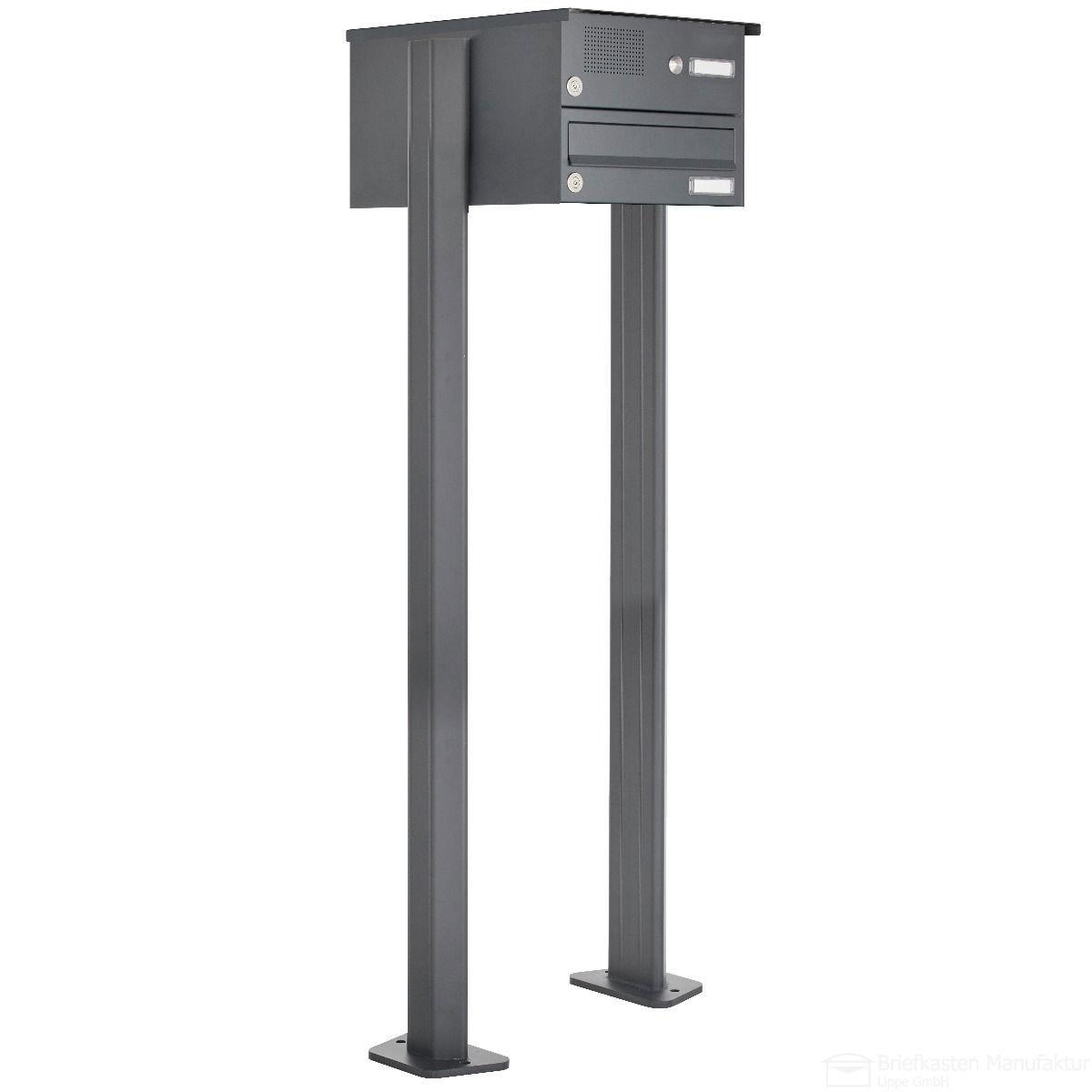 1er Briefkastenanlage freistehend Design BASIC 385P-7016-SP ...
