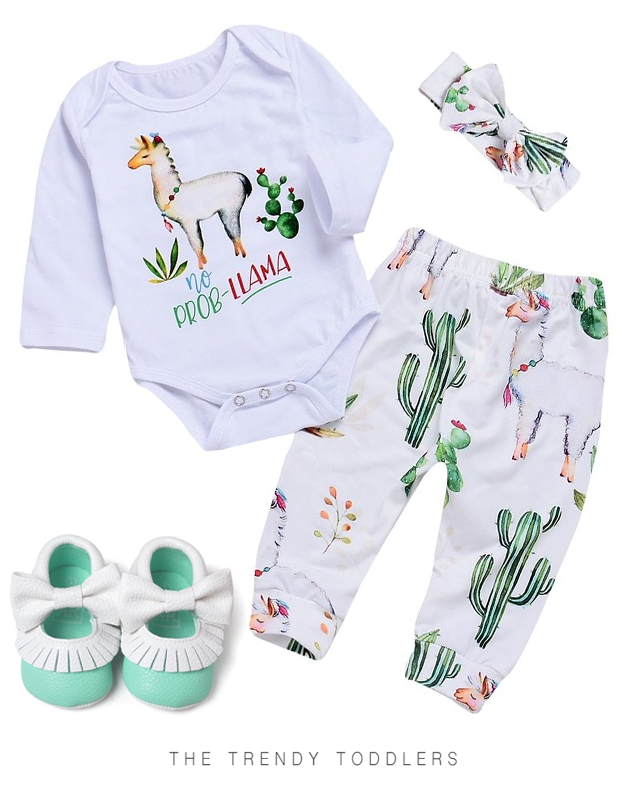 b0451f682 SALE 45% OFF + FREE SHIPPING! SHOP Our Cactus Llama Set & Bow Moccasins for  Baby Girls