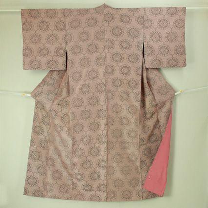 Pink, komon kimono / 普段使いに ピンク系地 花丸柄 小紋 #Kimono #Japan http://global.rakuten.com/en/store/aiyama/