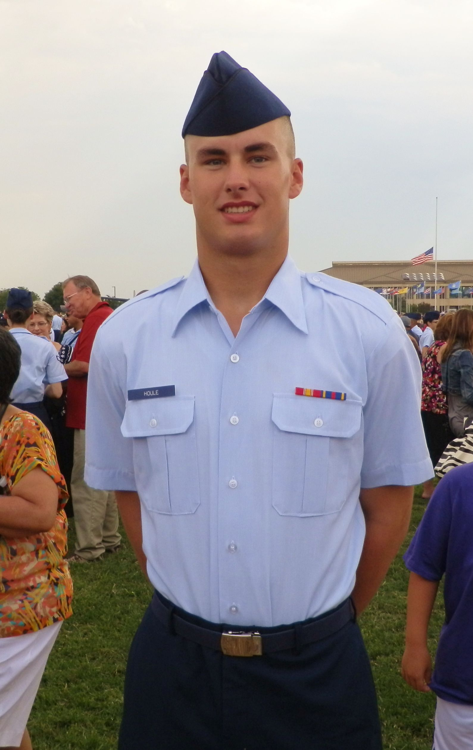 Air Force Graduation Day after 2 months of Boot Camp at Lackland Air Force  Base in San Antonio, TX - 2012. My son Dylan, now an Airman.